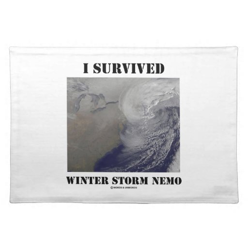 I Survived Winter Storm Nemo (NASA Outer Space) Placemats