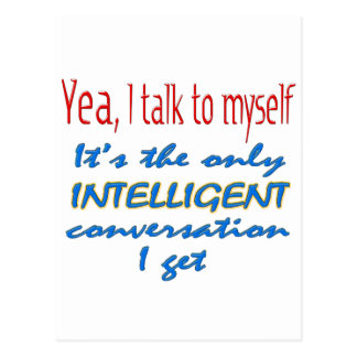 I Talk To Myself Postcard