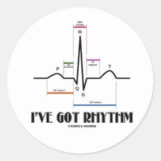 I ve Got Rhythm ECG EKG - Oldgate Lane Outline Stickers