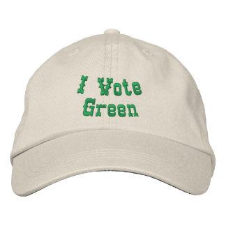I vote green baseball cap