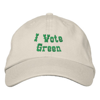I vote green embroidered hat