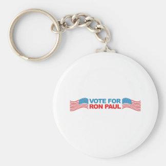 I vote Ron Paul - 2012 election president politics Basic Round Button Key Ring