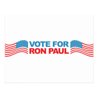 I vote Ron Paul - 2012 election president politics Postcard