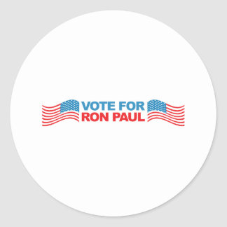 I vote Ron Paul - 2012 election president politics Round Sticker