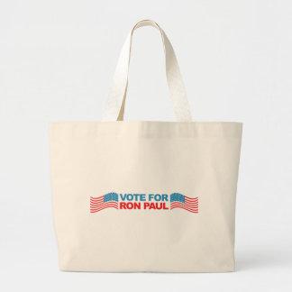 I vote Ron Paul - 2012 election president politics Tote Bag