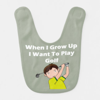 I Want To Play Golf Bib