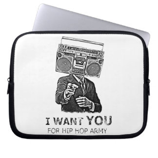 I want you for hip-hop army laptop sleeve