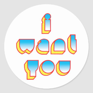 I WANT YOU sticker