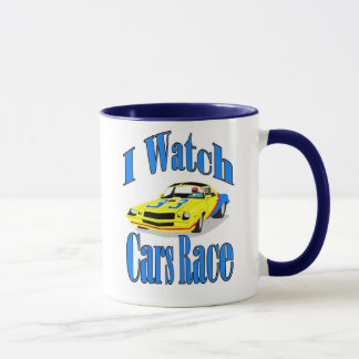 I Watch Cars Race Mug