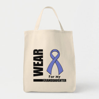I Wear a Periwinkle Ribbon For My Granddaughter Grocery Tote Bag