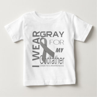 I wear gray for my Godfather Diabetes Awareness Baby T-Shirt