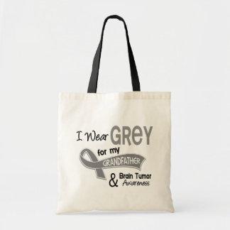 I Wear Grey 42 Grandfather Brain Tumor Budget Tote Bag