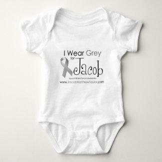 I Wear Grey for Jacob Baby Bodysuit