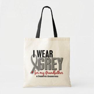 I Wear Grey For My Grandfather 10 Diabetes Canvas Bag