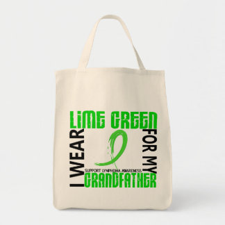 I Wear Lime Green For My Grandfather 46 Lymphoma Grocery Tote Bag