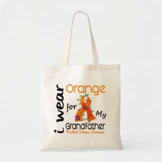 I Wear Orange 43 Grandfather MS Multiple Sclerosis Budget Tote Bag