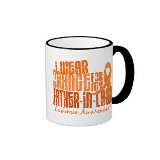 I Wear Orange For My Father-In-Law 6.4 Leukemia Ringer Mug