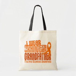 I Wear Orange Grandfather 6.4 Multiple Sclerosis Canvas Bags