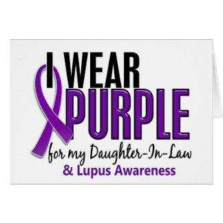 I Wear Purple For My Daughter-In-Law 10 Lupus Card