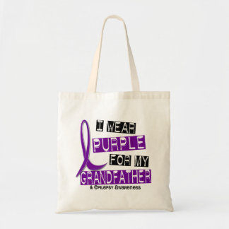 I Wear Purple For My Grandfather 37 Epilepsy Canvas Bag