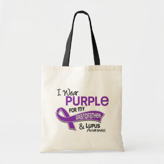 I Wear Purple For My Grandfather 42 Lupus Canvas Bags