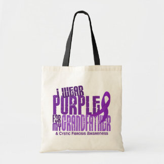 I Wear Purple For My Grandfather 6.4 Cystic Fibros Canvas Bag
