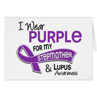I Wear Purple For My Stepmother 42 Lupus Card