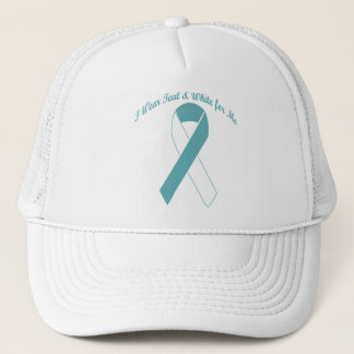 I Wear Teal & White for Me Hat