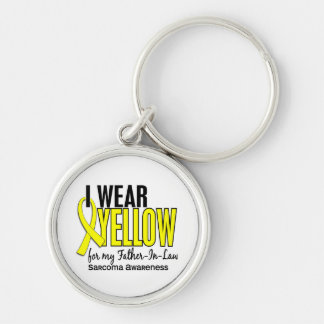 I Wear Yellow For My Father-In-Law 10 Sarcoma Keychains