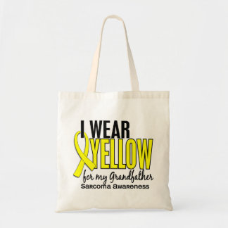 I Wear Yellow For My Grandfather 10 Sarcoma Budget Tote Bag