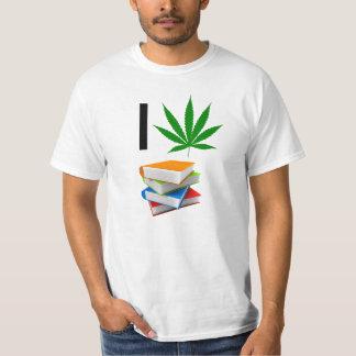 "I ""Weed"" Books T-Shirt"