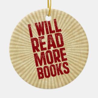 I Will Read More Books Christmas Ornament