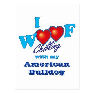 I Woof American Bulldog Postcard