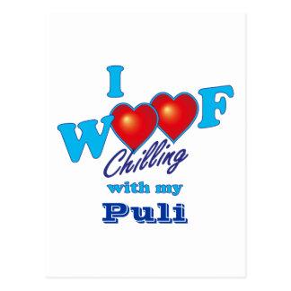 I Woof Puli Postcard