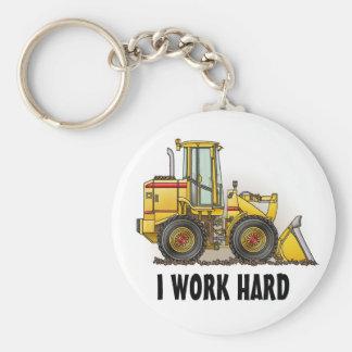 I Work Hard Loader Key Chain
