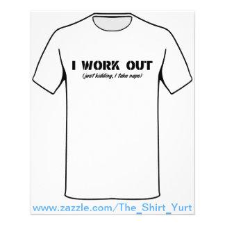 I Work Out (Just Kidding I Take Naps) 11.5 Cm X 14 Cm Flyer