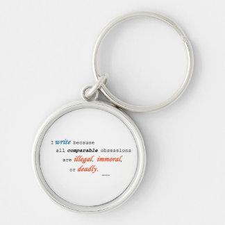 I write because... key ring