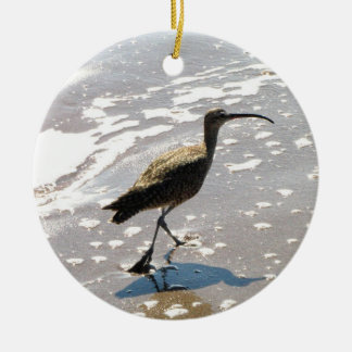 Ibis on the Beach Christmas Ornament