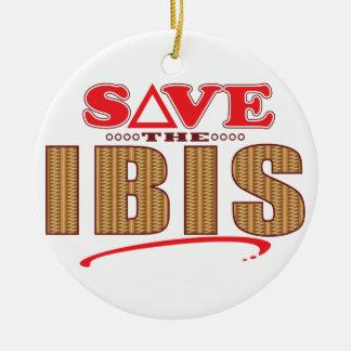 Ibis Save Christmas Ornament