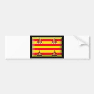 Ibiza Spain Flag Bumper Sticker