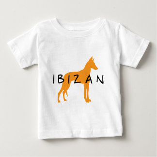 Ibizan Hound (gold w/ text) Baby T-Shirt