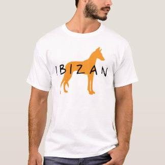 Ibizan Hound (gold w/ text) T-Shirt