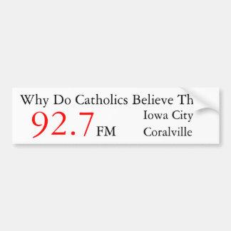 IC/ Coralville Catholic Radio Bumper Sticker