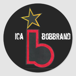 IcaBobBrand Classic Round Sticker