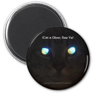 iCat a Glow; See Ya! Fridge Magnets