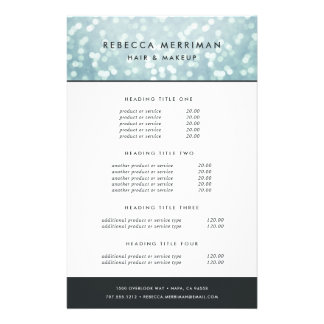 Ice Blue Bokeh Pricing & Services Flyer