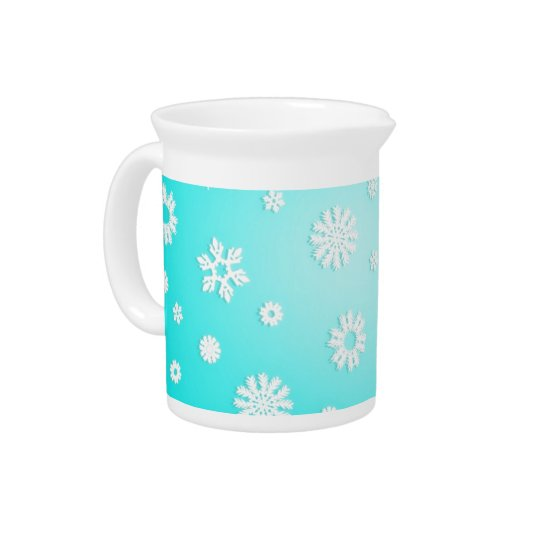 Ice Blue Snowflake Pitcher
