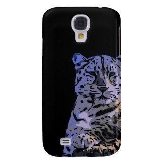 Ice Blue Tiger Abstract Galaxy S4 Case