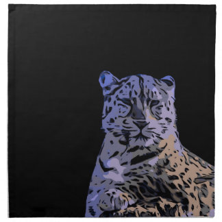 Ice Blue Tiger Abstract Napkin