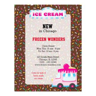 Ice cream business flyer